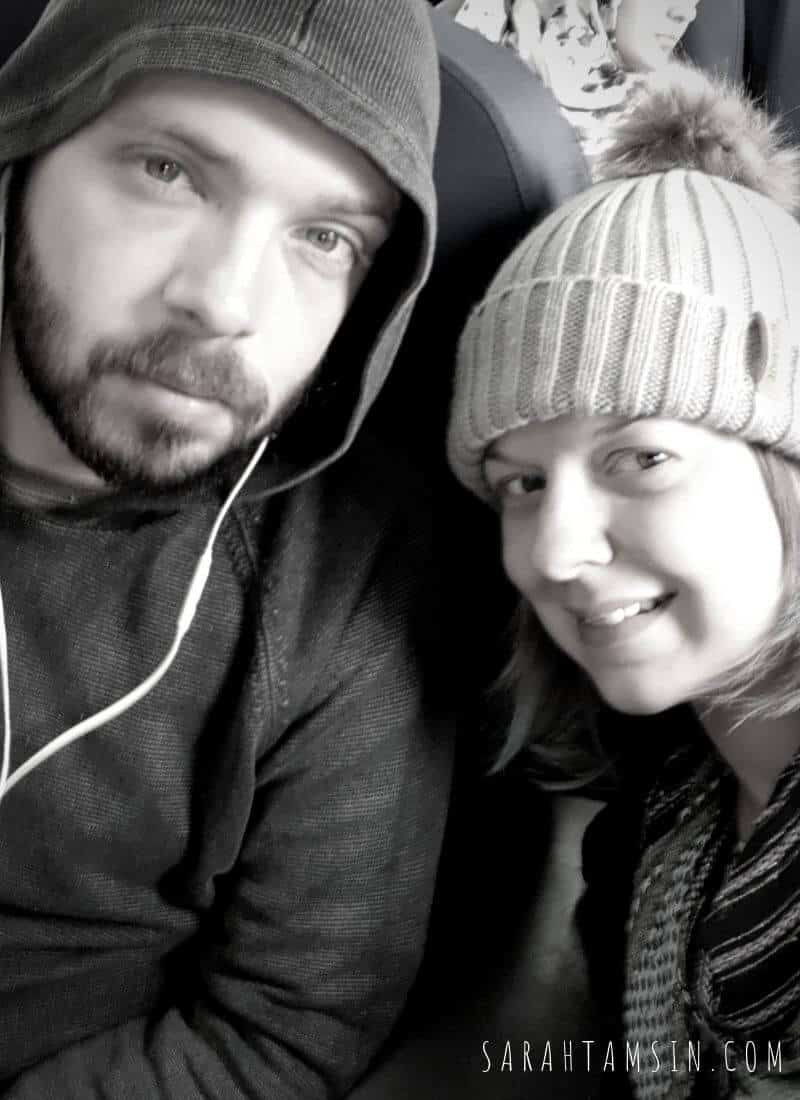 Tamsin and Haber on the Train from Cairo to Luxor in Egypt