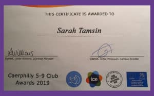 5-9 Club Caerphilly 2019