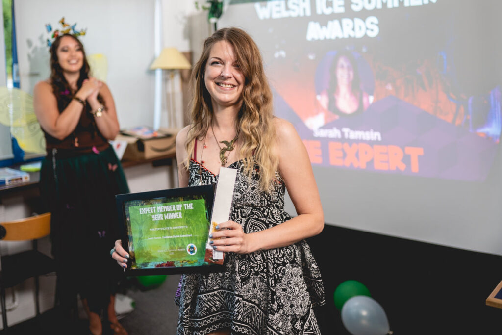 Sarah Tamsin wins Welsh ICE Expert of the Year 2021